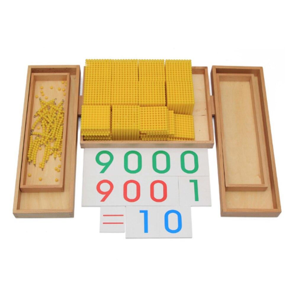 Enjoybay boîte en bois décimale Montessori jeu nombre comptage décimal enseignement jouet début d'apprentissage éducatif mathématiques jouet pour les enfants - 4