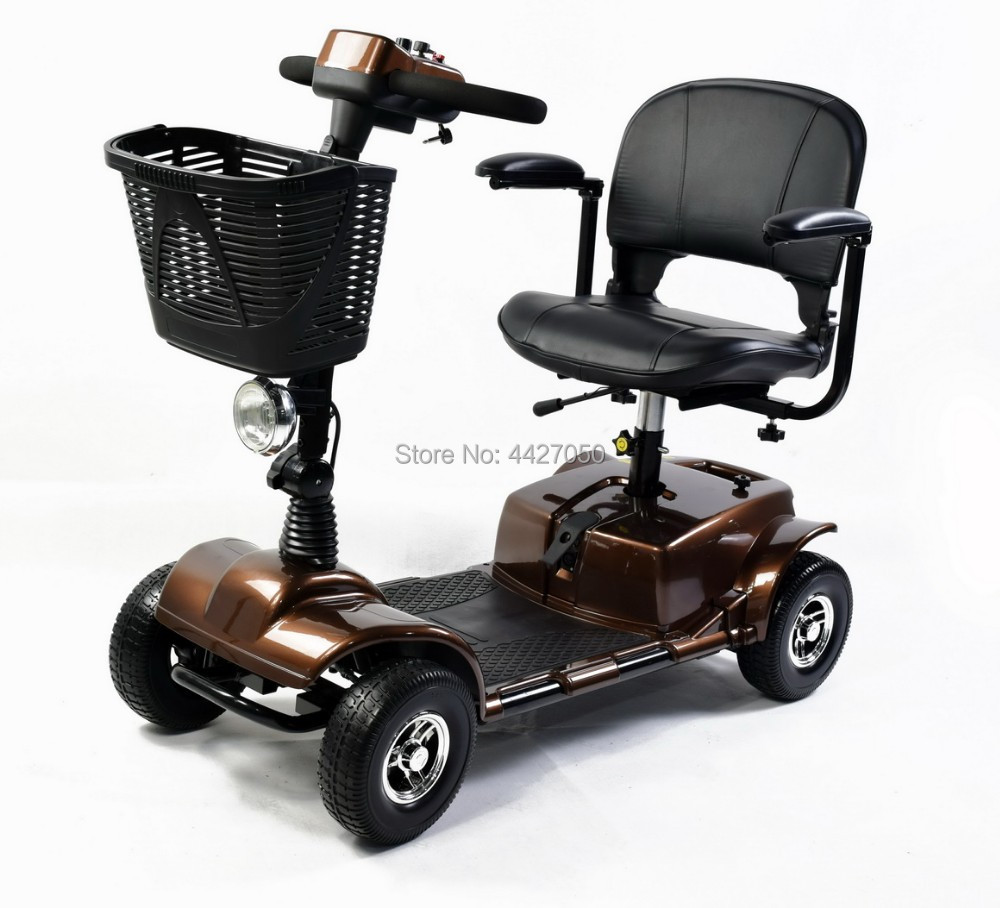 New design foldable speed 0 12km per hour electric four wheeled electric font b wheelchair b
