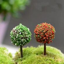 10 STÜCKE Mini Garten Dekorationen Harz Baum Märchengarten Miniaturen Bäume Garten Dekoration Terrarium Figuren Miniaturfiguren