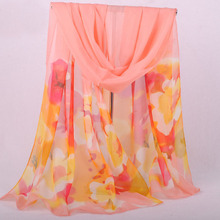 Three Colour Pashmina Scarf flower Long Size Voile Scarf za** women 2015 print burnout velvet scarf shawl tartan Pink