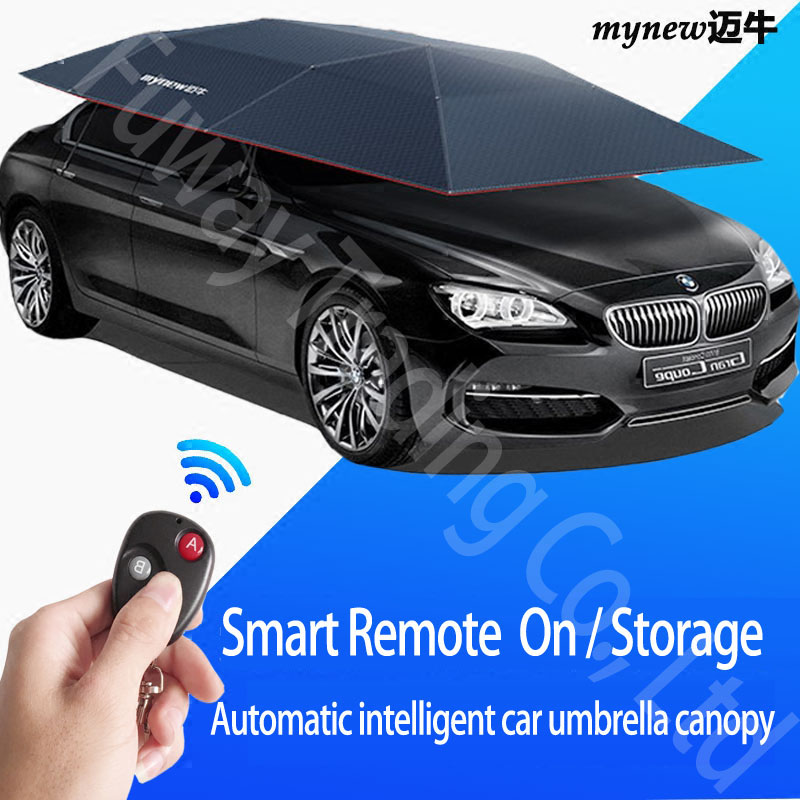 DHL Free Shipping!!! Factory wholesale New Arraival Automatic Car Parasols Remote Control Support Phone app Car Covers