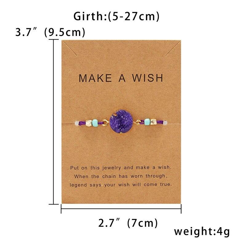 Для женщин браслеты на удачу бисера красная строка натуральный камень ткань браслеты мужчин ручной работы интимные аксессуары с карты - Окраска металла: Фиолетовый