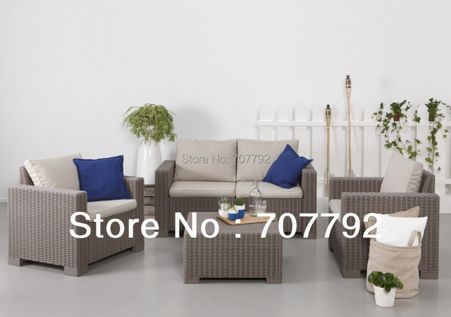 2017 beste Verkauf California Lounge Outdoor Polyrattan Möbel Sofa ...