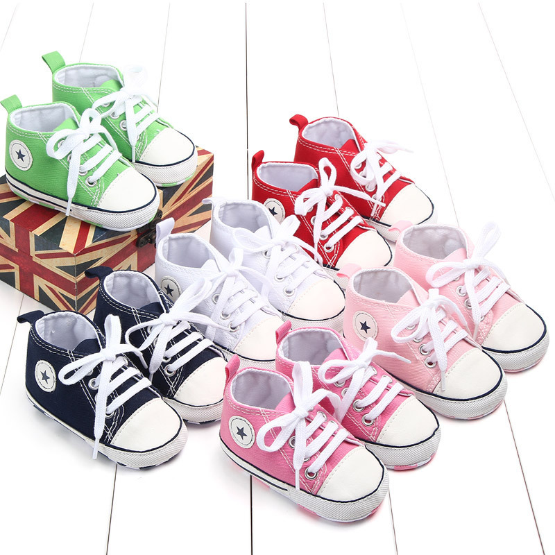 Spring And Autumn Fund Solid Color Front Chalaza Joker Canvas Shoe Study Walking Shoes Baby Shoe 0 1 Year 2266