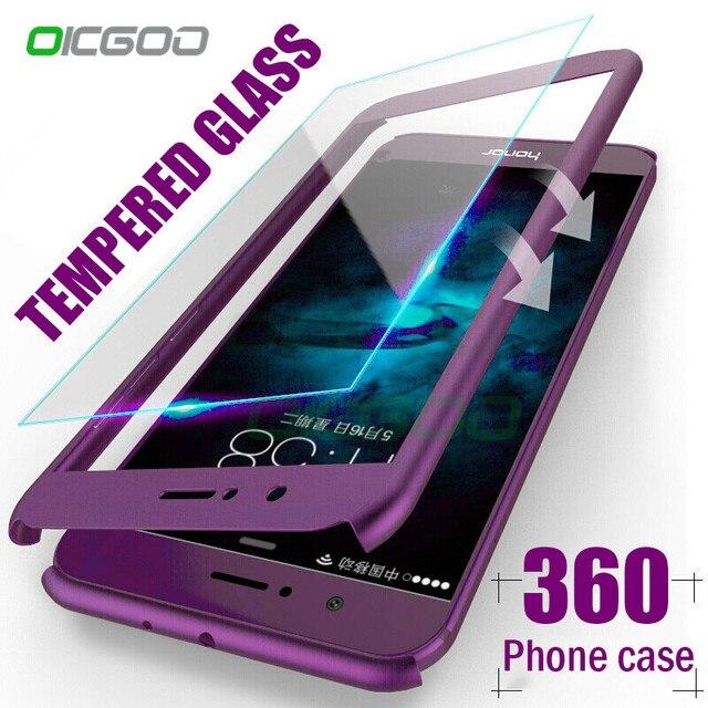 OICGOO 360 Độ Full Bìa Trường Hợp Đối Với Huawei P9 P10 P20 Lite Cộng Với Trường Hợp Với Glass Cho Huawei P20 Người Bạn Đời 9 10 Lite Pro Trường Hợp Điện Thoại