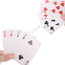 4 карты 7 до 2 трансформатор фокусы магический реквизит крупным планом взрослых детей волшебный трюк игральные карты