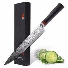 """Fleischmesser 9 """"Japanischen Damaskus Edelstahl VG-10 Küche Schreddern Schneiden TUO Besteck Ring Serie G10 Griff"""