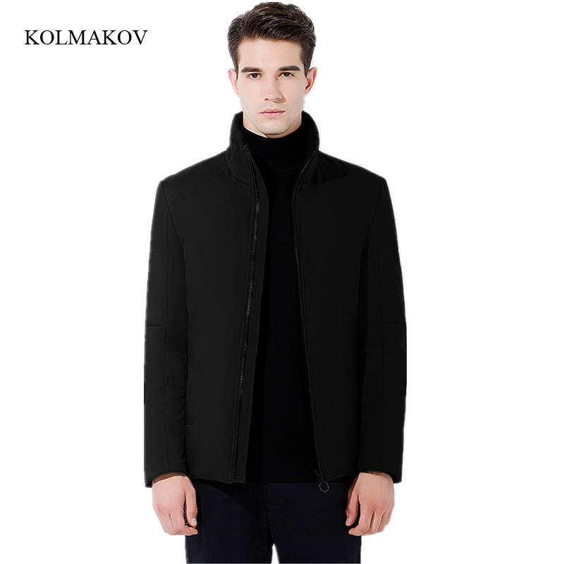 2017 new arrival winter men boutique down coats fashion casual stand collar jacket mens thick solid zippers coat size M-3XL