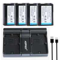 4 Pcs NP FW50 NP FW50 Batteries + USB Dual Charger For Sony NEX 5 NEX 5A NEX 5C NEX 5D NEX 5DB NEX 5HB NEX 5K Alpha 7R II Camera