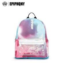 Epiphqny известный бренд PU Рюкзак Для женщин Цвет печати Back Pack кожа моды небольшой Дорожные сумки Обувь для девочек Bagpack школьные 51068