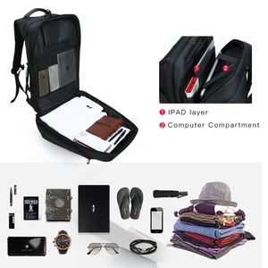 Image 5 - Kingsons Man Backpack Fit 15 17 inch Laptop USB Recharging Multi layer Space Travel Male Bag Anti thief Mochila
