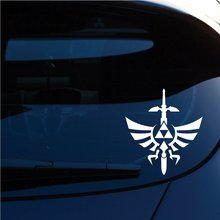 Zelda Triforce with Sword Decal Sticker for Car Window, Laptop, Motorcycle, Walls, Mirror and More. (6 Height) Sku: 554 (White) цена