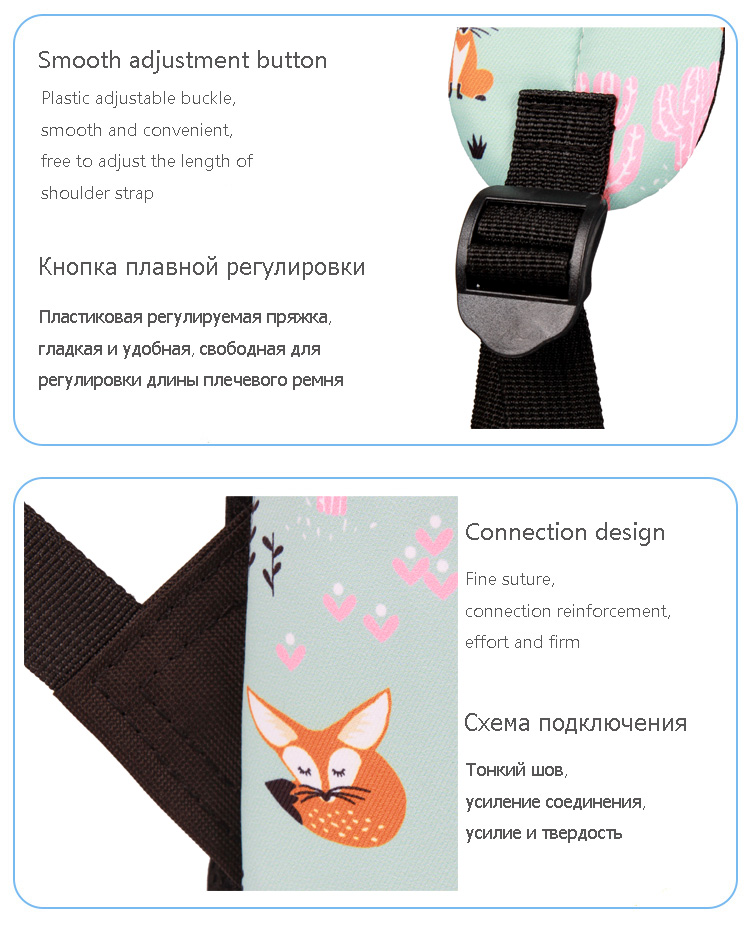 WINNER Fox Pattern Printing Backpack Female Travel Daily Laptop Student School Backpack Water  Repellent For Teenagers Mochila 2018 (14)