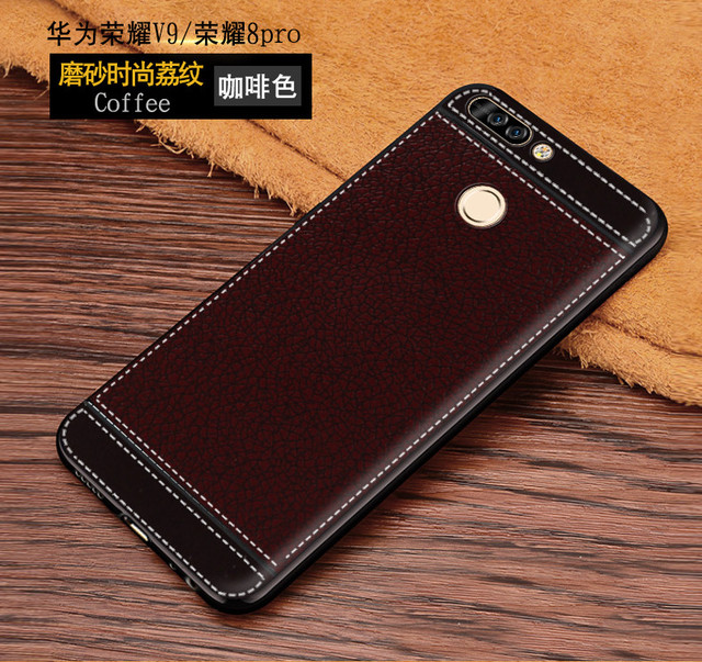 Soft TPU+Pu Leather Case for Huawei Honor 8 Pro DUK-L09 Honor8 Pro DUKE-L09 Fitted Case for Huawei Honor V9 V 9 DUK L09
