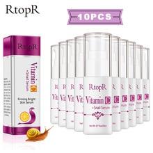 VitaminC Serum 10 pcs/lot Snail Hyaluronic acid Anti-Aging Essence Fine Pore Fir