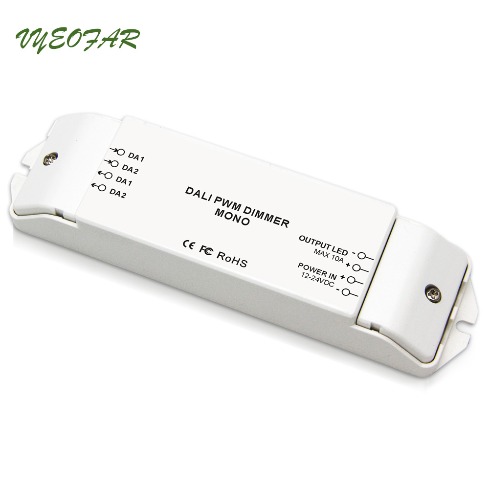 New BC-341 Constant Voltage DALI Led Dimmer Controller 12-24V Dali Dimming Driver Controller 10A/CH x 1 CH 120W Free Shipping dali signal led dimmer 350ma fluorescent constant current high voltage ac110 240 led dali dimming controller