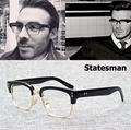 2016 New Fashion The Statesman Beckham Style Plain Glasses Vintage Brand Design Myopia Optical Eyewear Frame Oculos De Grau