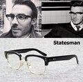 2016 Nueva Moda El Estadista Beckham Estilo Llanura Gafas de La Vendimia Marca de Diseño de La Miopía Óptica Gafas Marco Gafas De Grau