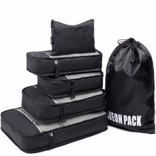 Finest Seller Lightweight Travel Packing Cubes 6pcs With Laundry Shoe Bag Suitcase Compression Cubes for Luggage Organizer