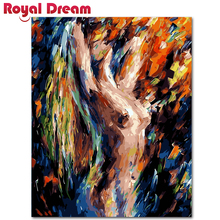 DIY Painting By Numbers Abstract temptation Oil Wall Art Acrylic Canvas Paintings  For Living Room
