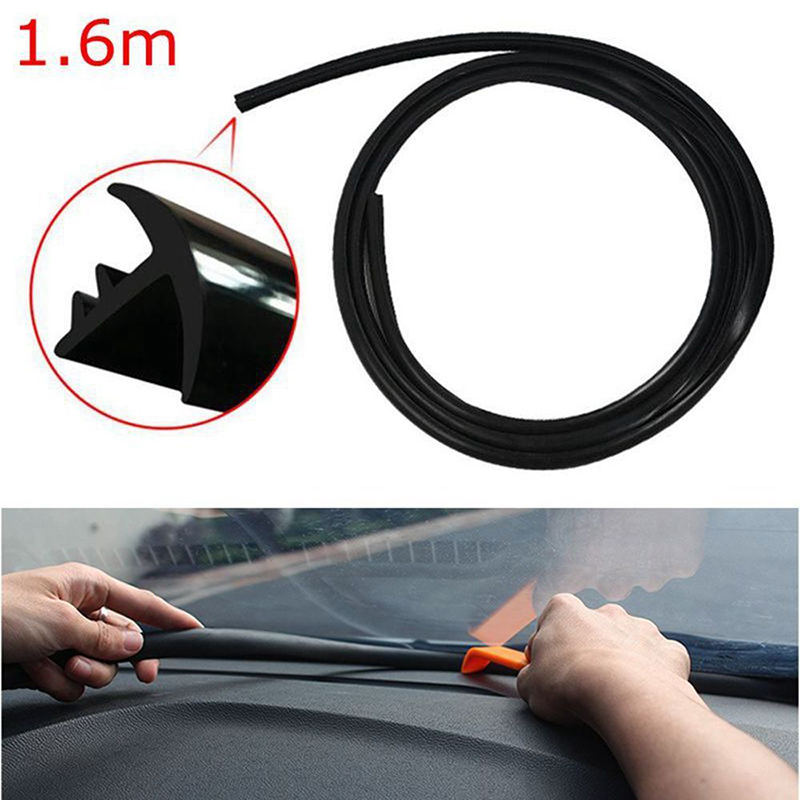 Sealing-Strip Windshield-Glasses Car-Accessories Rubber-1.6m Soundproof for Dashboard