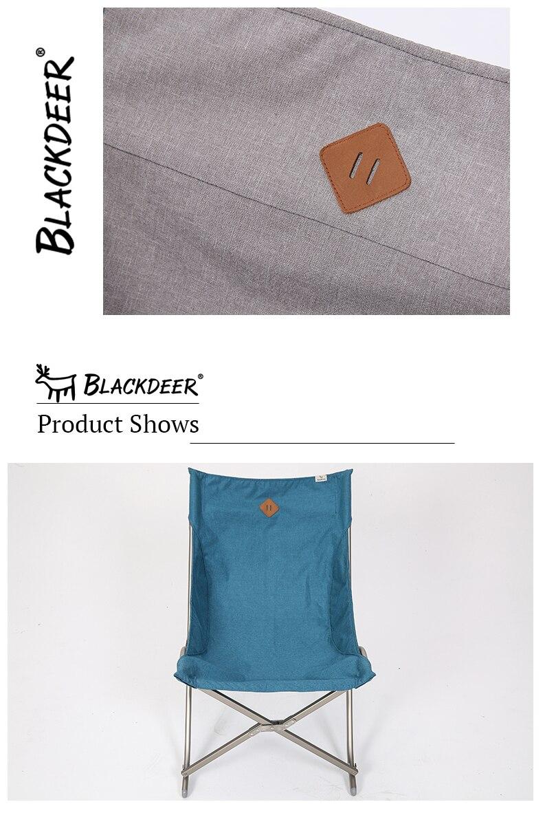 Blackdeer portátil dobrável pesca estável cadeira de