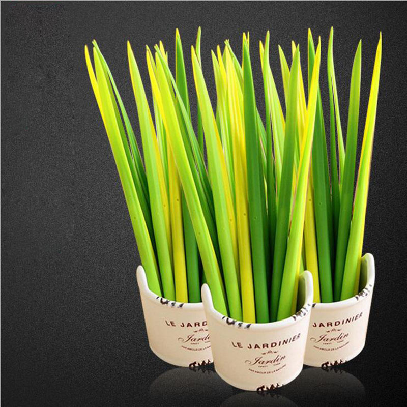 creative Grass Lovely Soft Silicone Gel Pen Shape Pen 0.38mm Papelaria 6pc смазка силиконовая grass silicone 250 мл