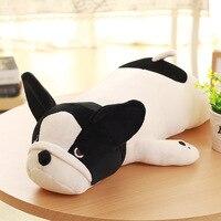 Eiderdown Cotton Lying Dog Plush Toy French Bulldog Doll Stuffed Animal Children Birthday Gift