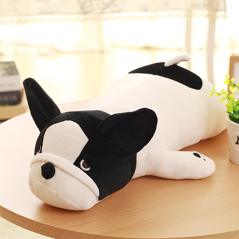 Eiderdown Cotton Lying Dog Plush toy French bulldog Doll Stuffed Animal Children Birthday Gift (no pink color) 45cm cute dog plush toy stuffed cute husky dog toy kids doll kawaii animal gift home decoration creative children birthday gift