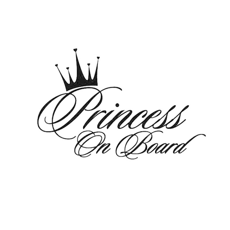 PRINCESS ON BOARD Funny Car Sticker and decals for cars styling auto products for automotive vinyl Waterproof Stylish stickers