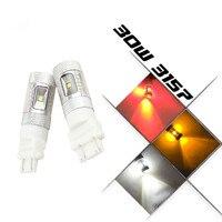 2 SZTUK White/Amber/Czerwony 3156 3157 lampa LED Zatrzymaj Tail Hamulca Turn signal kopii zapasowych Samochodów auto światło Żarówki