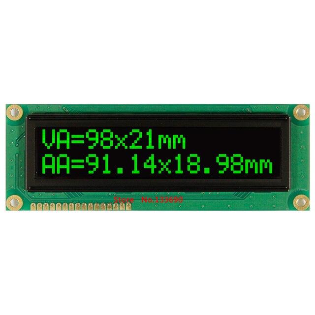 Większy ekran 1602 duży znak duży rozmiar biały zielony moduł wyświetlacza oled ws0010 szeregowy spi równoległy angielski rosyjski czcionki