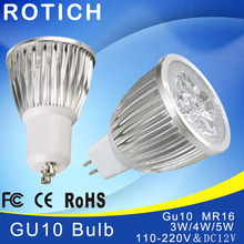 Super bright spotlight LED Lamp Spotlight 3W 4W 5W Bombillas High quality GU10 mr16 12 Spot light Lampada Bulb 220V