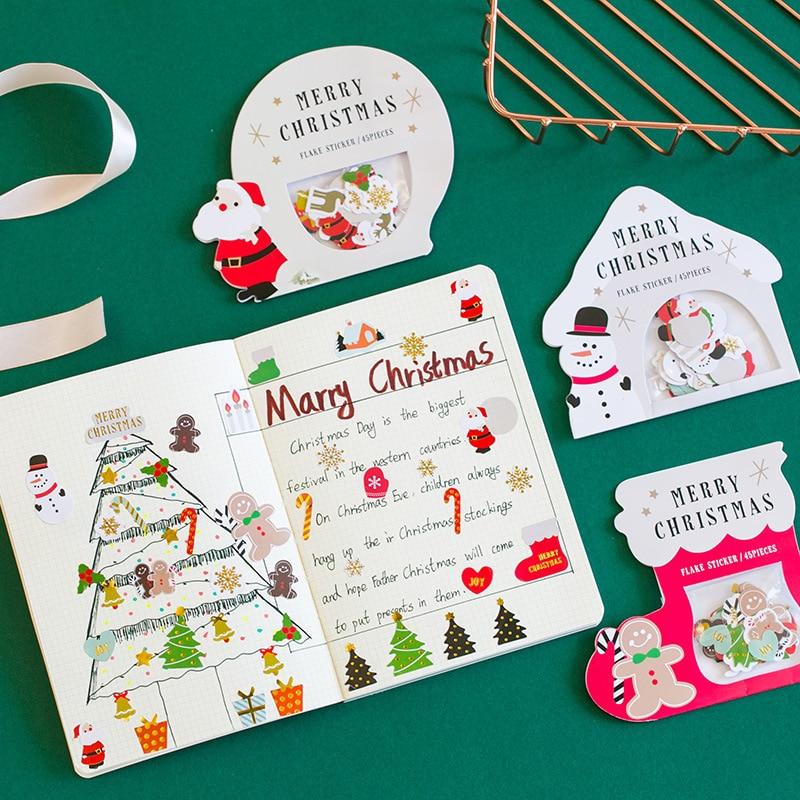 Рождество Снеговик Санта Клаус декоративные наклейки Клейкие наклейки Скрапбукинг DIY украшения дневник наклейки