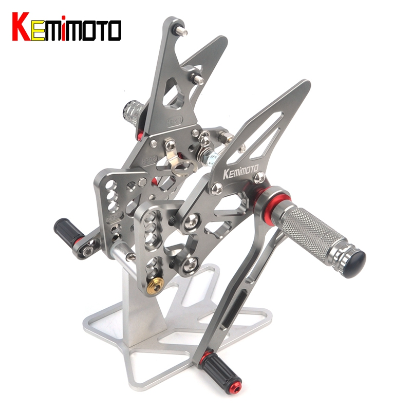 2005 2006 K5 GSXR 1000 CNC Adjustable Rear Sets Rearset Footrest Foot Rest Pegs for SUZUKI K5 GSX-R1000 2005 2006 купить в Москве 2019