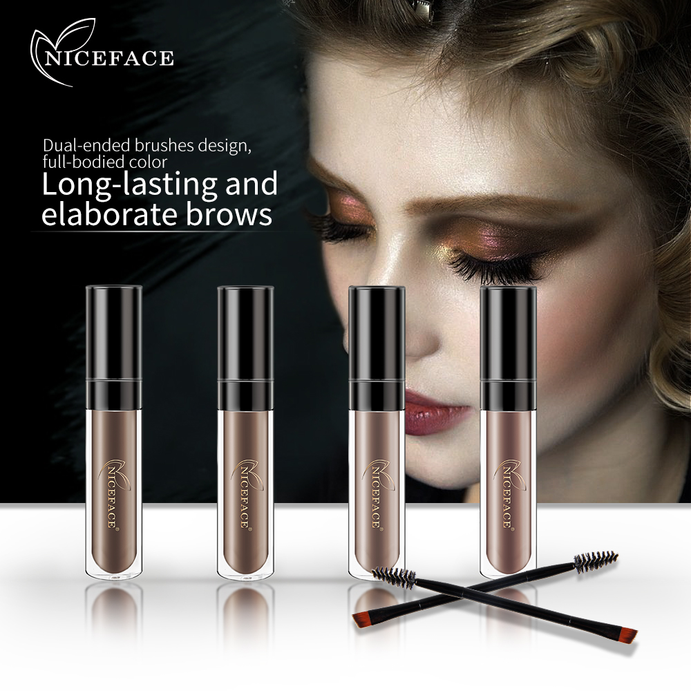 Brand New Makeup Eyebrow Tattoo Tint Brush Kits Waterproof Black Brown Color Henna Eyebrow Gel Eyebrows Enhancer Beauty Tools