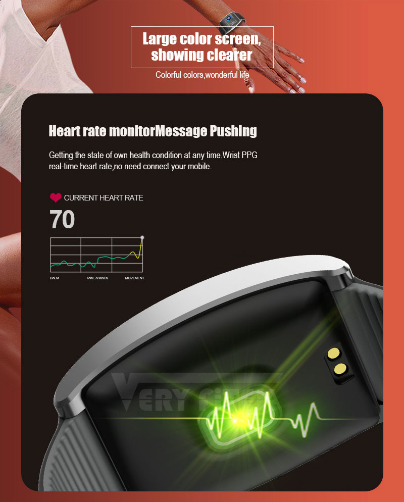 VERYFiTEK QS05 Smart Bracelet Watch Blood Pressure Oxygen Smart Band Heart Rate Monitor Wristband Pedometer Fitness Bracelets (8)