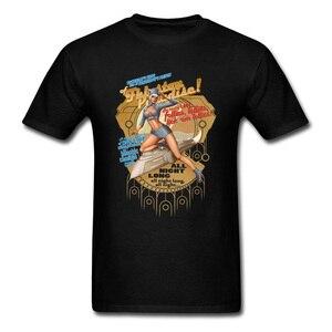 Seks Pin Up dziewczyna T Shirt moda męska Fhloston raj naga ładna koszulka graficzna dla kobiet mężczyźni czarny biały odzież dla dorosłych odzież