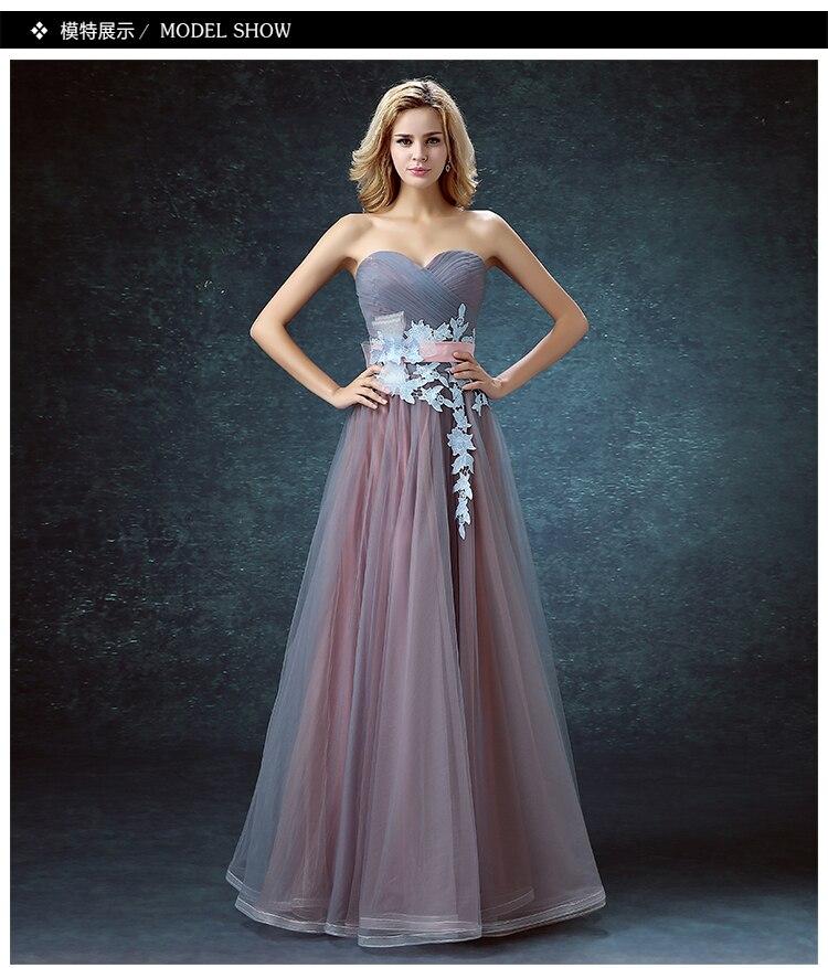 lace sashes long a-line sexy sweetheart vestido de festa longo 2018 vintage sweetheart robe de soiree elegant   Bridesmaid     Dresses