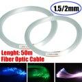 Klar PMMA Optic Kabel Faser Licht 50 mt/164ft Ende Wachsen LED Licht Guide Kit DIY Urlaub Kommerziellen Beleuchtung 1,5mm/2mm Weihnachten