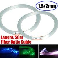 Wyczyść PMMA kabel światłowodowy fibre Light 50 m/164ft koniec rosną światła LED przewodnik zestaw DIY wakacje oświetlenie obiektów handlowych 1.5mm/2mm boże narodzenie w Oświetlenie światłowodowe od Lampy i oświetlenie na