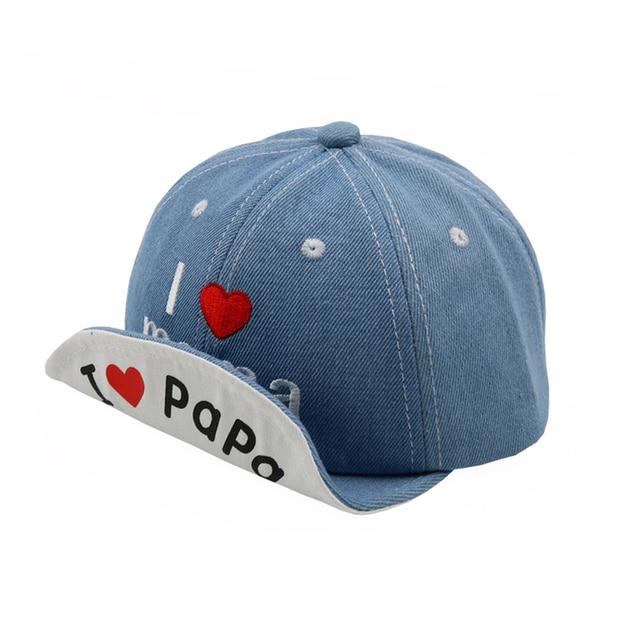 2018 Jeans Hat for Boys Spring Summer Baby Hat Fashion I Love Mama Baseball  Cap Girls Outdoor Sun Hat 96d1baf33cf8