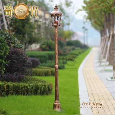aluminum glass classical outdoor lamp post garden lights led exterior park road lighting solar light bulbs lowes