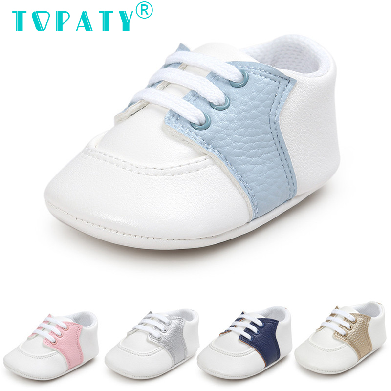 TOPATY Brand New Moccasins For 0-18M Baby Boys Girls Soft Leather Toddler Shoes Kids Lace-Up Sneakers Sapatos De Bebe Zapatos