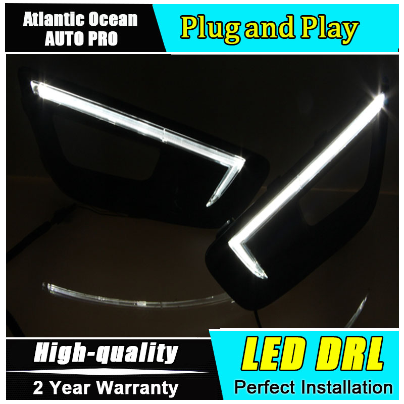 JGRT car styling For Kia K5 LED DRL For K5 High brightness guide LED DRL led fog lamps daytime running light jgrt car styling led fog lamp for acura tl led drl daytime running light high low beam automobile accessories