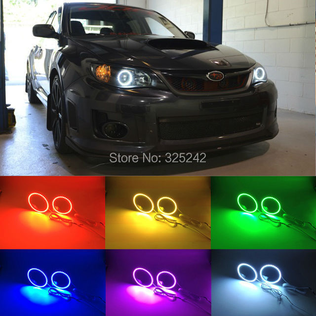 For Subaru Impreza WRX STI 2007 2008 2009 2010 2011 Excellent RGB Angel Eyes kit Multi