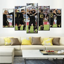 купить 5 Panel Real Madrid Club De Futbol Football Team Poster Printed Painting For Living Room Wall Art Decor Picture Artworks Poster по цене 334.12 рублей