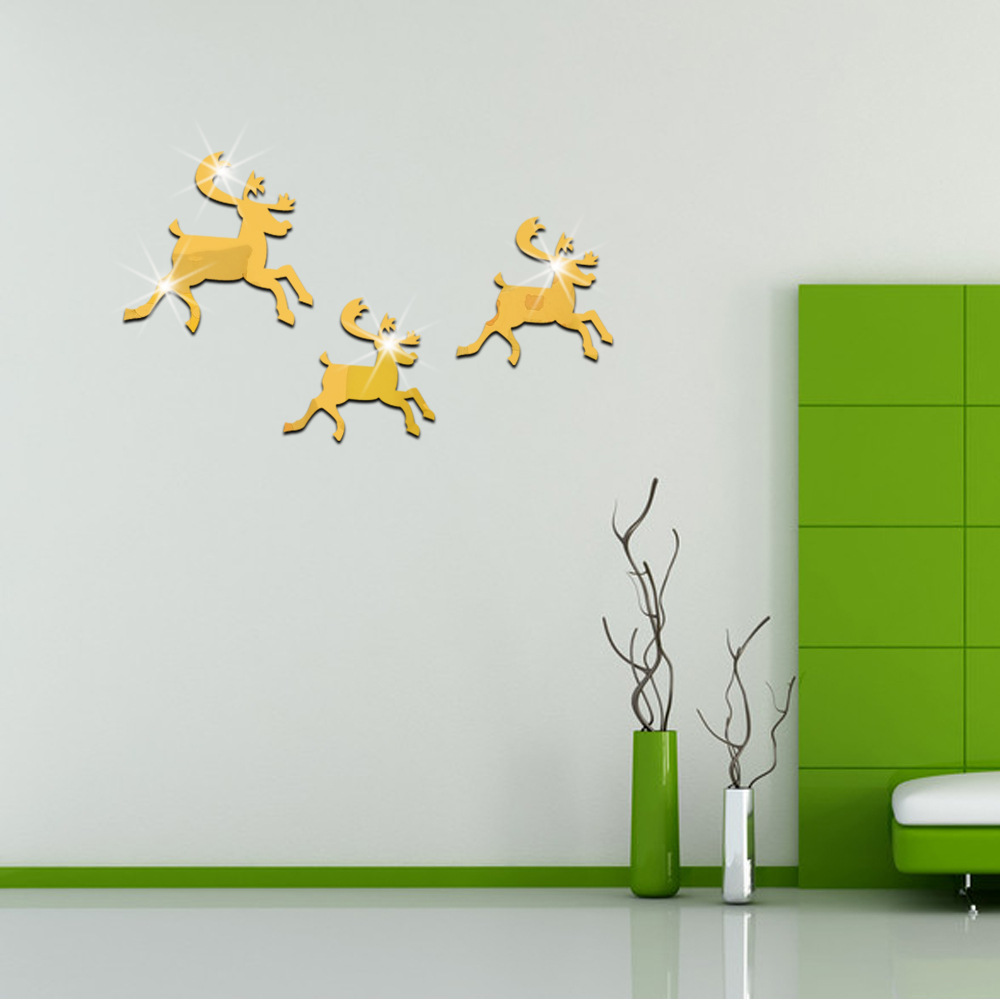 popular ms stickers buy cheap ms stickers lots from china ms christmas elk mirror wall stickers christmas stickers christmas decorations for home stickers muraux christmas wall stickers