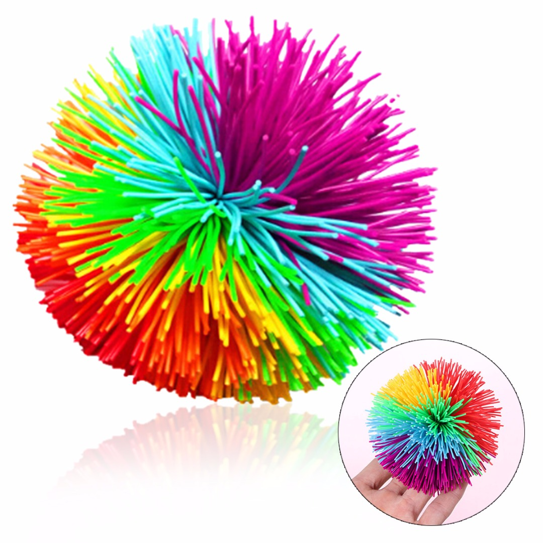 High Quality Kids Soft Stress Toy Ball Silicone Ball Sensory Stretchy Stress Relief Toy Ball For Kids-in Toy Balls from Toys & Hobbies