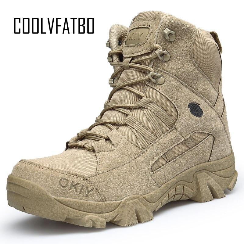 COOLVFATBO militaire tactique chaussures hommes désert chaussures automne US armée Combat bottes vêtement Homme résistant baskets mâle Chaussure Homme|Bottes basiques|   - AliExpress
